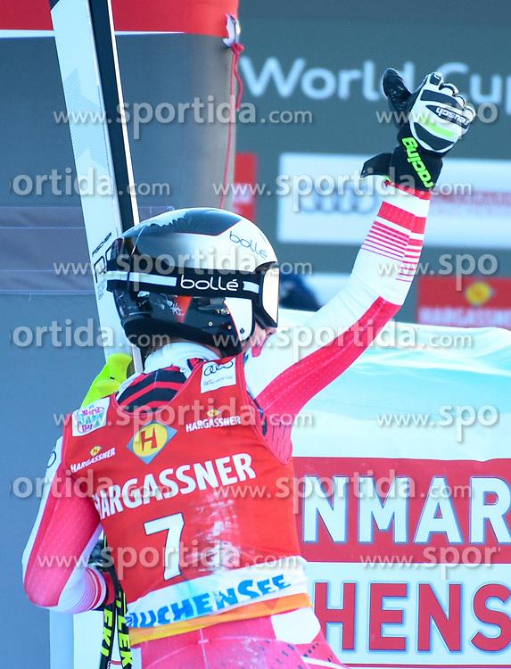 26.10.2019, Keelberloch Rennstrecke, Altenmark, AUT, FIS Weltcup Ski Alpin, Abfahrt, Damen, 2. Training, im Bild Nicole Schmidhofer (AUT) // Nicole Schmidhofer of Austria reacts after her 2nd training run for the women's Downhill of FIS ski alpine world cup at the Keelberloch Rennstrecke in Altenmark, Austria on 2019/10/26. EXPA Pictures © 2020, PhotoCredit: EXPA/ Erich Spiess