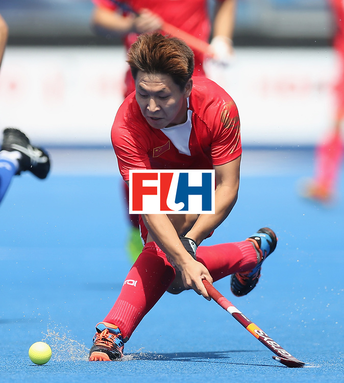 LONDON, ENGLAND - JUNE 17:  Wenlong E of China during the Hero Hockey World League semi final match between China and Korea at Lee Valley Hockey and Tennis Centre on June 17, 2017 in London, England.  (Photo by Alex Morton/Getty Images)