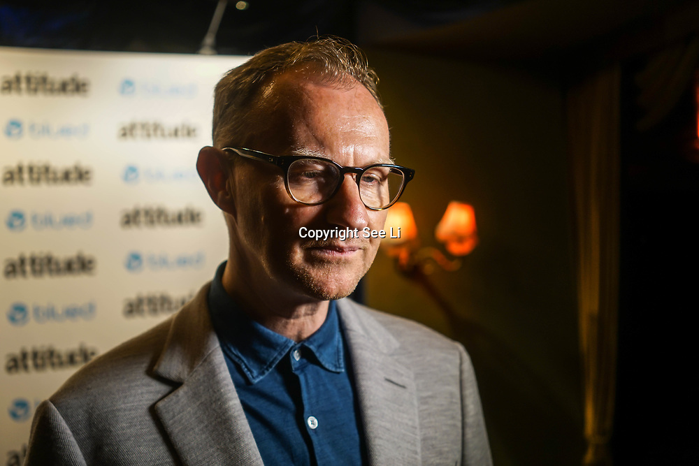London,England,UK. 27th April 2017.  Mark Gatiss attend the LGBT magazine honours Bachelors of the Year at Café de Paris. by See Li