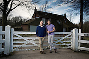 (Blue Rugby top) Composer Patrick Hawes &amp; partner Andy Berry at the home called The Rectory on the Norfolk Broads Nr Great Yarmouth on 19 February 2015.<br /> <br /> <br /> Photos by Ki Price