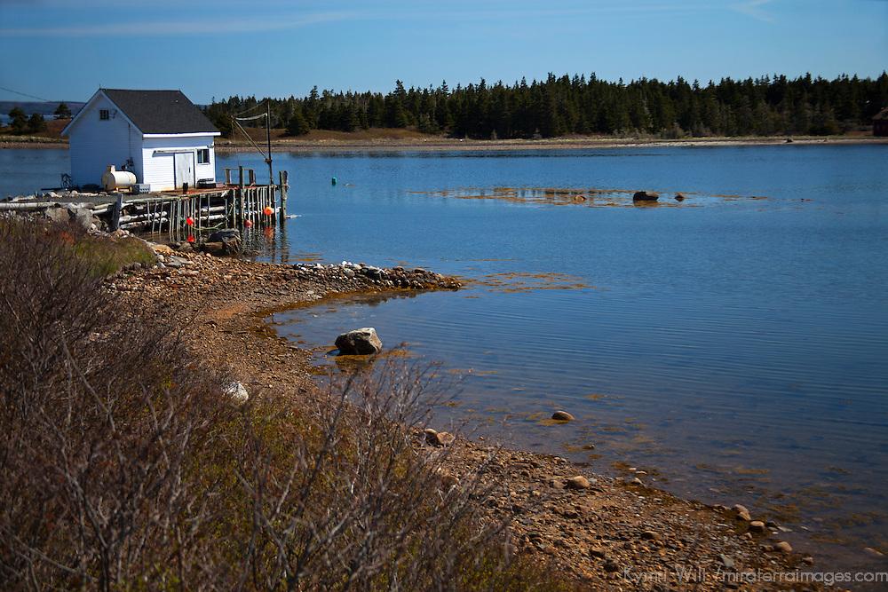 North America, Canada, Nova Scotia, Guysborough County. Scenic landscape near Larry's River, Guysborough County.
