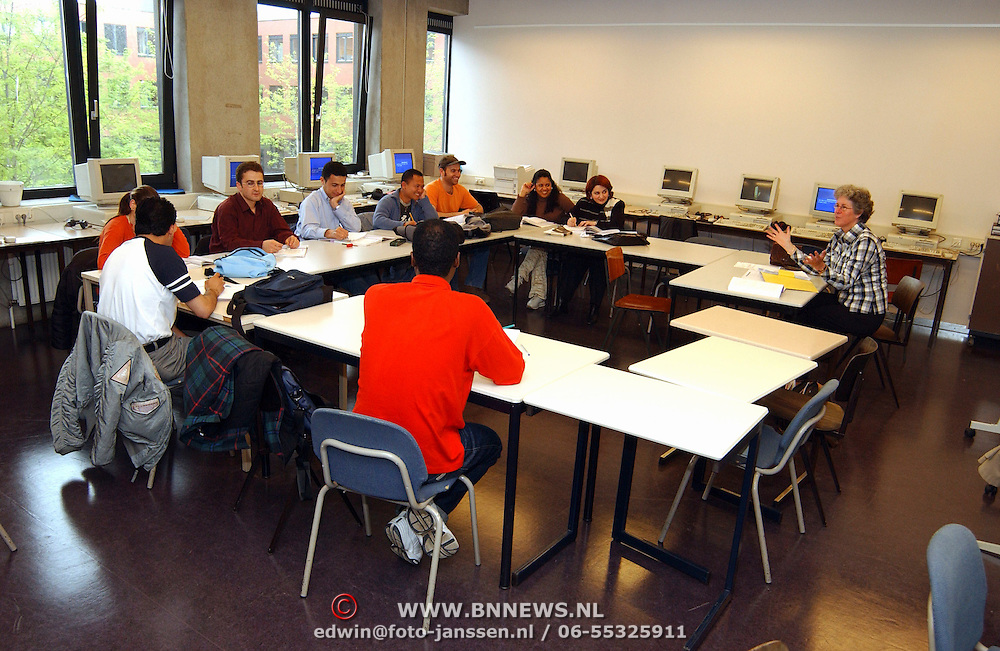 Leslokaal, les allochtonen Dudokcollege Hilversum