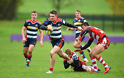 James Newey of Bristol United breaks free from a Gloucester tackle - Mandatory by-line: Paul Knight/JMP - 18/11/2017 - RUGBY - Clifton RFC - Bristol, England - Bristol United v Gloucester United - Aviva A League