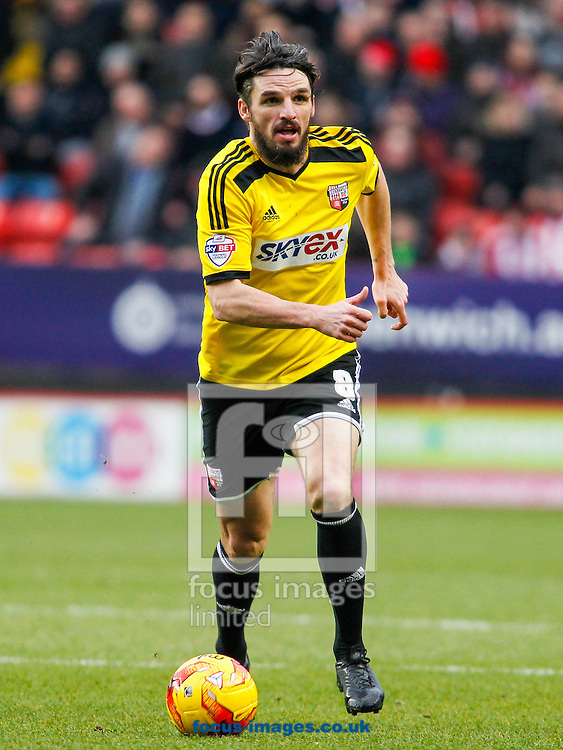 Jonathan Douglas of Brentford during the Sky Bet Championship match between Charlton Athletic and Brentford at The Valley, London<br /> Picture by Mark D Fuller/Focus Images Ltd +44 7774 216216<br /> 14/02/2015
