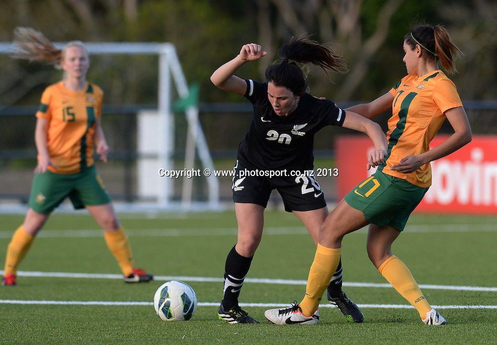 Emma Rolston. New Zealand Junior Football Ferns v Australia Young Matildas. Women's U20 International. Match 3. Seddon Fields, Auckland. Monday 29 July 2013. Photo: Andrew Cornaga/www. Photosport.co.nz