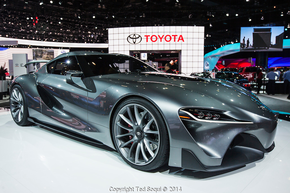 The 2014 Los Angeles Auto Show at the Los Angeles Convention Center.<br /> Toyota FT-1 concept car.