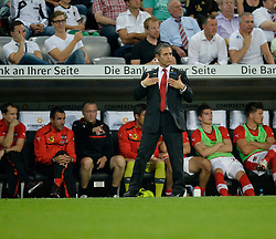 06.09.2013, Allianz Arena, Muenchen, GER, FIFA WM Qualifikation, Deutschland vs Oesterreich, Rueckspiel, im Bild Trainer Marcel Koller (AUT) Gestik Geste fordert breite Brust Selbstvertrauen,, , Qualifikation Weltmeisterschaft Brasilien 2014 Rueckspiel , Saison 2013 2014 Muenchen Allianz-Arena, 06.09.2013 // during the FIFA World Cup Qualifier second leg Match between Germany and Austria at the Allianz Arena, Munich, Germany on 2013/09/06. EXPA Pictures © 2013, PhotoCredit: EXPA/ Eibner/ Michael Weber<br /> <br /> ***** ATTENTION - OUT OF GER *****