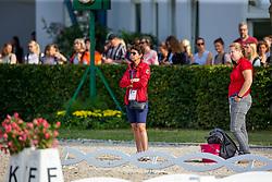 Theodorescu Monica, GER, <br /> Aachen - CHIO 2019<br /> Impressionen Abreiteplatz<br /> Preis der Familie Tesch<br /> Grand Prix CDIO5*<br /> 1. Wertungsprüfung für den Lambertz Nationenpreis<br /> 18. Juli 2019<br /> © www.sportfotos-lafrentz.de/Sharon Vandeput