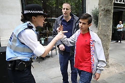 "© Licensed to London News Pictures . 24/06/2017. London, UK. Ian Crossland at the demo.  The English Defence League ( EDL ) hold a March on Parliament , from Charing Cross to Victoria Embankment , opposed by a counter demonstration by Unite Against Fascism . Scotland Yard said it was using public order laws to restrict the marches ""due to concerns of serious public disorder, and disruption to the community"" following terrorist attacks in Manchester , Westminster and Finsbury Park and the Grenfell Tower fire . Photo credit: Joel Goodman/LNP"