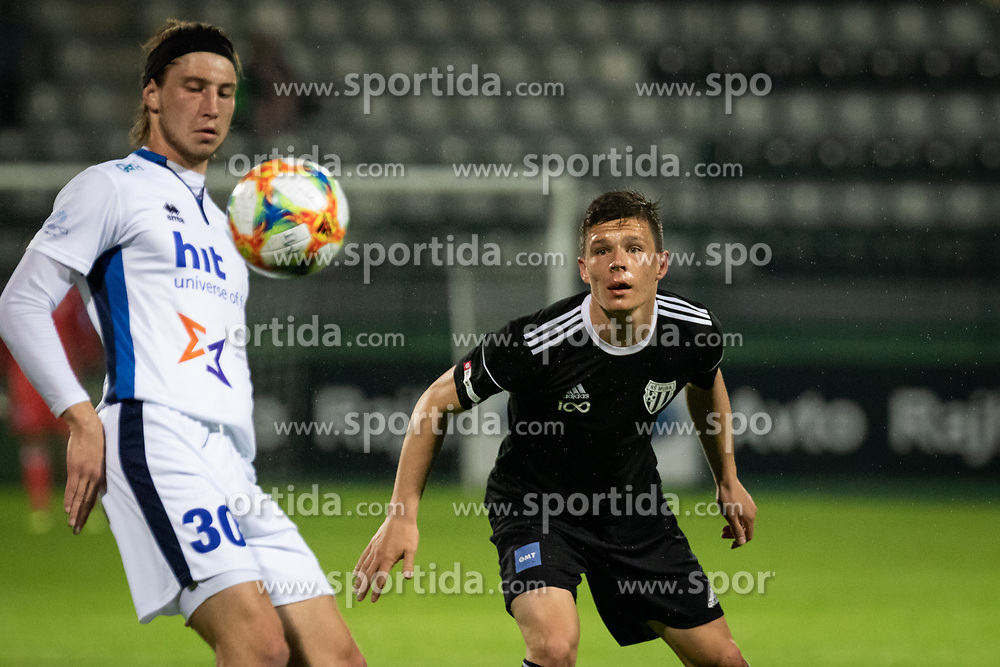 Leon Marinič of Gorica and Jon Šporn of Mura during football match between NŠ Mura and ND Gorica in 34nd Round of Prva liga Telekom Slovenije 2018/19, on May 18, 2019 in Fazanerija, Murska Sobota, Slovenia. Photo by Blaž Weindorfer / Sportida