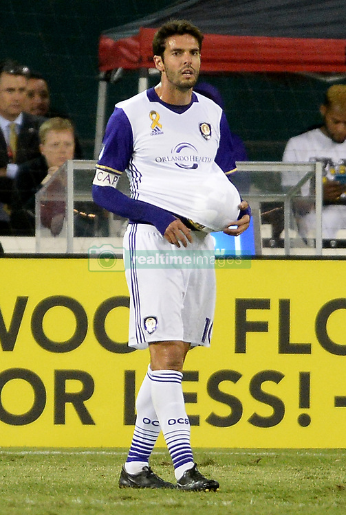 September 9, 2017 - Washington, DC, USA - 20170909 - Orlando City FC midfielder KAKA (10) tucks the ball under his jersey duirng the second half against D.C. United at RFK Stadium in Washington. (Credit Image: © Chuck Myers via ZUMA Wire)