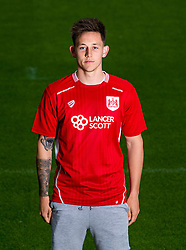 New Bristol City signing Josh Brownhill poses for a picture in a Bristol City shirt - Mandatory by-line: Robbie Stephenson/JMP - 31/05/2016 - FOOTBALL - Ashton Gate - Bristol, England - Bristol City New Signing - Josh Brownhill