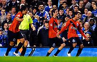 Photo: Alan Crowhurst.<br />Chelsea v FC Porto. UEFA Champions League. Last 16, 2nd Leg. 06/03/2007. Porto's Ricardo Quaresma (R) celebrates his goal 0-1.