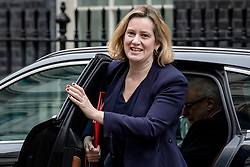 © Licensed to London News Pictures. 12/03/2019. London, UK. Secretary of State for Work and Pensions Amber Rudd arrives on Downing Street for the Cabinet meeting. MPs will get a second meaningful vote on Prime Minister Theresa May's Brexit deal this evening. Photo credit: Rob Pinney/LNP