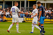 Leeds United Jack Clarke (11) scores a goal and celebrates to make the score 0-2 during the Pre-Season Friendly match between Tadcaster Albion and Leeds United at i2i Stadium, Tadcaster, United Kingdom on 17 July 2019.