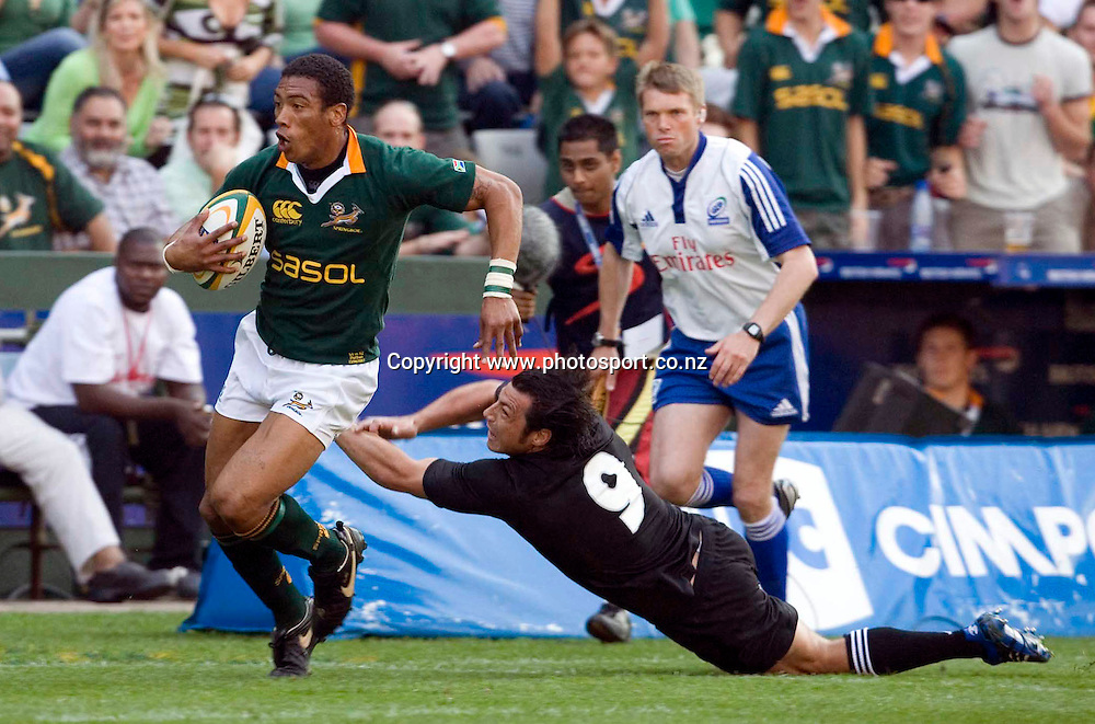 Ashwin Willemse during the Tri Nations international rugby match between the All Blacks and South Africa at ABSA Stadium, Durban, South Africa. The All Blacks won the match, 26 - 21. Photo : Africa Visuals/PHOTOSPORT **NO AGENTS**