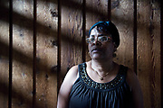 MADISON, WI -APR. 28, 2015: Karen Madlock, a resident in Brentwood Village on the North Side, is one of many being evicted from the complex. Matlock says the upkeep of her and others apartments was not timely by the landlord and is fighting to save her home. Lauren Justice for Isthmus