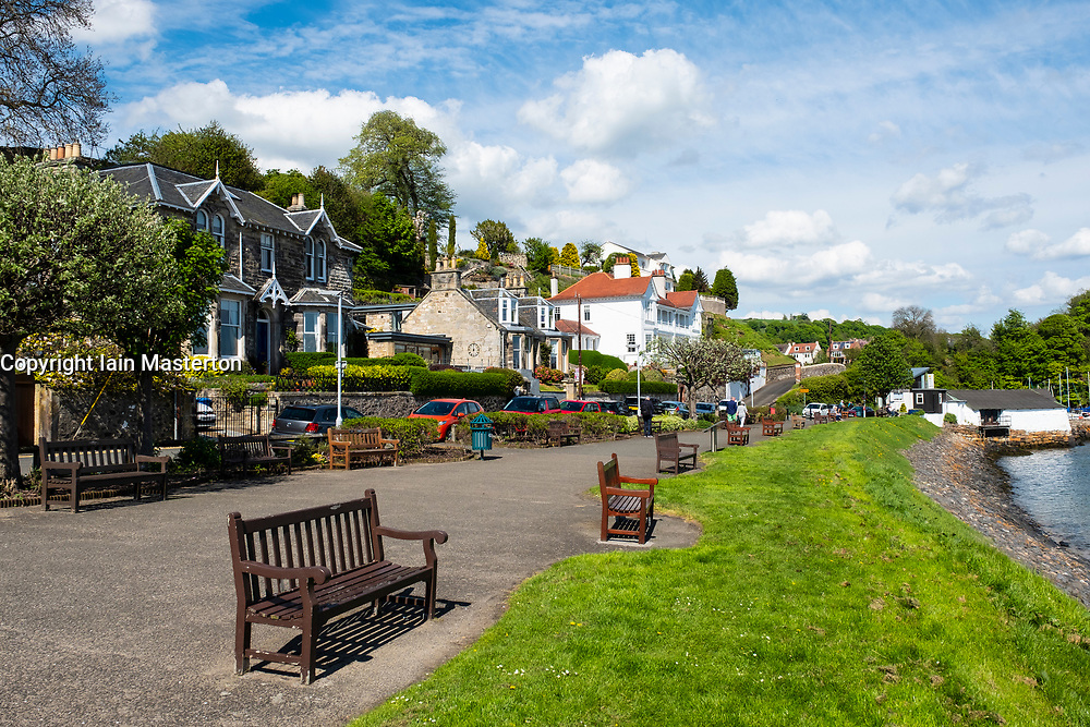 Seafront at Aberdour village in Fife, Scotland, UK