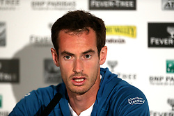 Andy Murray during the media day ahead of the 2018 Fever-Tree Championships at Queen's Club, London.