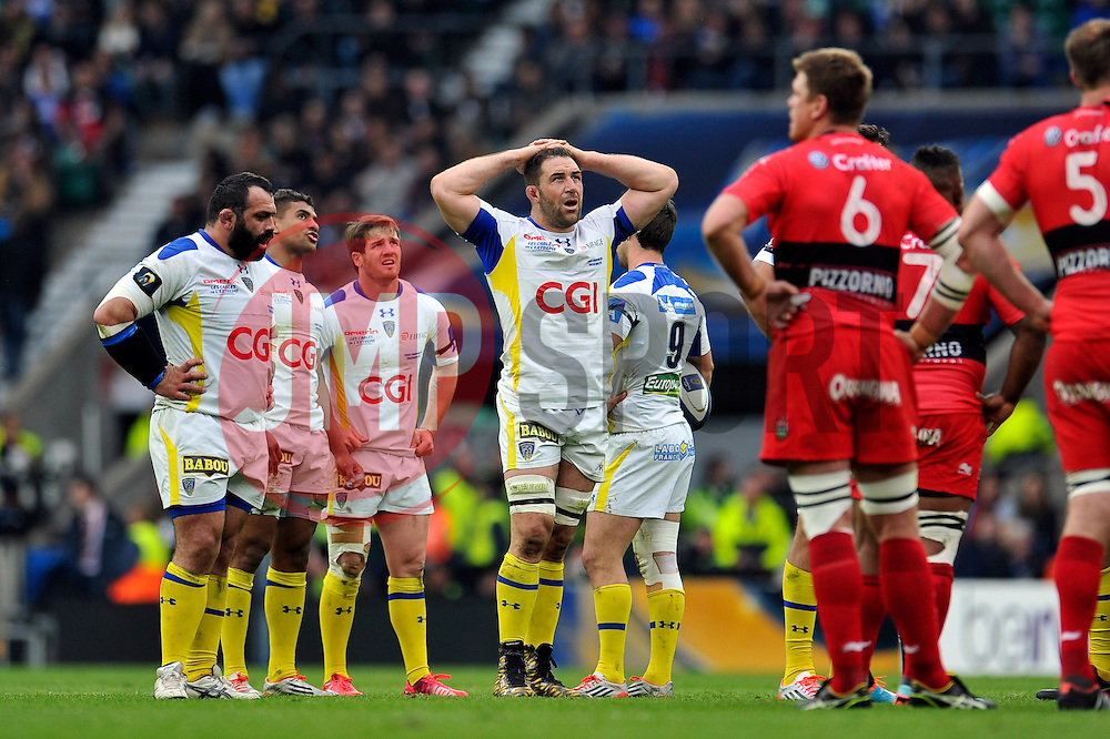 Jamie Cudmore of Clermont Auvergne looks on - Photo mandatory by-line: Patrick Khachfe/JMP - Mobile: 07966 386802 02/05/2015 - SPORT - RUGBY UNION - London - Twickenham Stadium - ASM Clermont Auvergne v RC Toulon - European Rugby Champions Cup Final