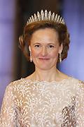 Afscheidsdiner Koningin Beatrix in Rijksmuseum. Het afscheidsdiner wordt gehouden in de Eregalerij van het 2 weken geleden door de koningin heropende museum. <br /> <br /> Farewell Dinner Queen Beatrix at Rijksmuseum. The farewell dinner will be held in the Hall of Fame of two weeks ago reopened by the Queen museum.<br /> <br /> Op de foto / On the Photo: Kroonprinses Mary van Denemarken / Crown Princess Mary of Denmark