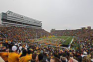 November 05, 2011: The Iowa Hawkeyes take the field before the start of the NCAA football game between the Michigan Wolverines and the Iowa Hawkeyes at Kinnick Stadium in Iowa City, Iowa on Saturday, November 5, 2011. Iowa defeated Michigan 24-16.