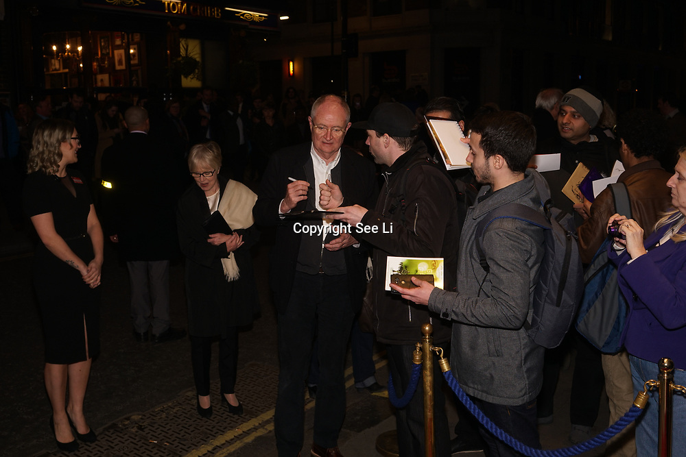 """James """"Jim"""" Broadbent is an English actor and voice artist attend 'Who's Afraid of Virginia Woolf' play press night on 9th Mrach 2017 at the Harold Pinter Theatre, London,UK. by See Li"""