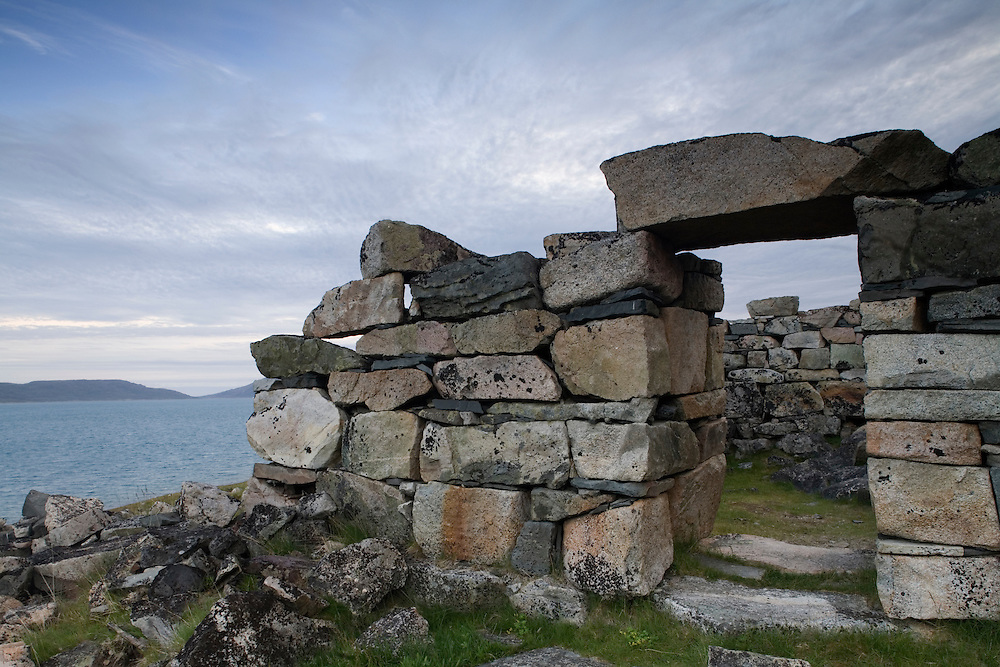 Greenland, Hvalsey, Remains of Norse Christian Church from 13th century Viking settlement