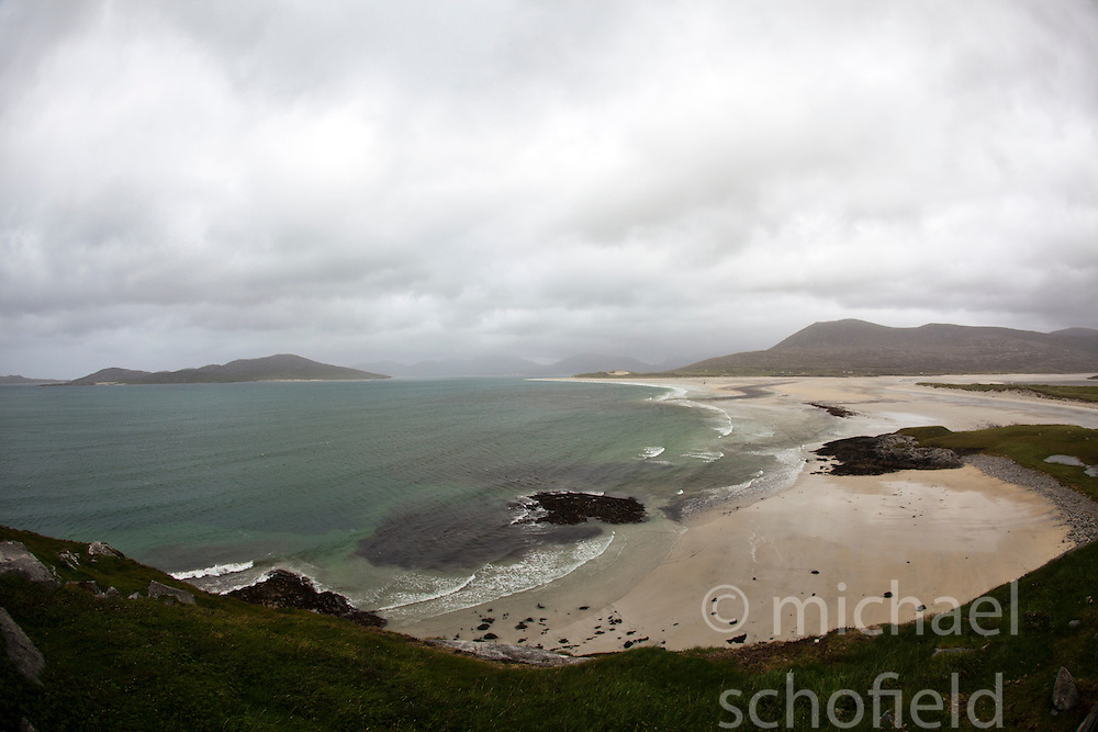 Seilebost beach on the Isle of Harris, the Western Isles, Scotland.