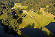 Aerial view of Middleton Place plantation Charleston, South Carolina.