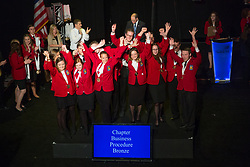 The 2017 SkillsUSA National Leadership and Skills Conference Competition Medalists were announced Friday, June 23, 2017 at Freedom Hall in Louisville. <br /> <br /> Chapter Business Procedure<br /> <br /> 	Team P (consisting of Kaitlin Deal, Allison Eisenhart, Victoria Yorio, Kate Yeung, Payton Neeley, Shannon Ferguson)<br />   High School	 Gloucester County Institute of Technology<br />   Gold	 Sewell, NJ<br /> Chapter Business Procedure	Team A (consisting of Zack Corcoran, Carter Washburn, Connor Christiansen, Cole Mantas, Ayush Kumar, John Mulroy)<br />   High School	 Cambridge High School<br />   Silver	 Milton, GA<br /> Chapter Business Procedure	Team C (consisting of Levi Armstrong, Cassie Moffitt, Hailee Smith, Evan Mays, Mary Morrison, Morgan Salyers)<br />   High School	 Volunteer High School<br />   Bronze	 Church Hill, TN<br /> Chapter Business Procedure	Team A (consisting of Derek McGovern, Kaleb Sorensen, Landon Vernon, Jacob Ricci, Autymn Weaver, Kimberley Yefimov)<br />   College	 Utah Valley University<br />   Gold	 Orem, UT<br /> Chapter Business Procedure	Team B (consisting of Khanh Tran, Yhara Duron, Issaiah Mosley, Shawnlyn Deitz, Rose Baum, Shanice Johnson)<br />   College	 Canadian Valley Tech Center - El Reno<br />   Silver	 El Reno, OK