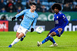 Brahim Diaz of Manchester City takes on Hamza Choudhury of Leicester City - Mandatory by-line: Robbie Stephenson/JMP - 18/12/2018 - FOOTBALL - King Power Stadium - Leicester, England - Leicester City v Manchester City - Carabao Cup Quarter Finals