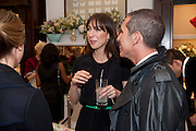 SAMANTHA CAMERON, Smythson Royal Wedding exhibition preview. Smythson together with Janice Blackburn has commisioned 5 artist designers to create their own interpretations of  Royal wedding memorabilia. Smythson. New Bond St. London. 5 April 2011.  -DO NOT ARCHIVE-© Copyright Photograph by Dafydd Jones. 248 Clapham Rd. London SW9 0PZ. Tel 0207 820 0771. www.dafjones.com.