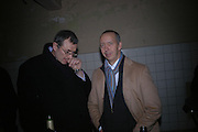 Max Hetzler and Benedikt Taschen andr. Frieze Party Berlin. Stadtbad, Oderberger Strasse 57-59, Oderberger Strasse. Berlin. 23 March 2006. ONE TIME USE ONLY - DO NOT ARCHIVE  © Copyright Photograph by Dafydd Jones 66 Stockwell Park Rd. London SW9 0DA Tel 020 7733 0108 www.dafjones.com