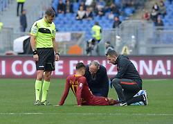 January 19, 2019 - Rome, Italy - Cengiz Under leaves the playing field due to injury during the Italian Serie A football match between A.S. Rome and F.C. Turin at the Olympic Stadium in Rome, January 19, 2019. (Credit Image: © Silvia Lore/NurPhoto via ZUMA Press)
