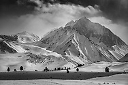 Mount Morrison in Winter (B&W), Mono County, Eastern Sierra, California