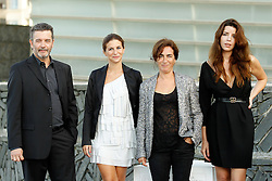 21.09.2011, Sebastian Donostia, ESP, 59. San Sebsatian Filmfestival, Zinemaldia, im Bild Portuguese director Joao Canijo (L) poses with actresses Anabela Moreira (R), Rita Blanco (2nd R) and Cleia Almeida (2nd L) during the 59th San Sebastian Donostia International Film Festival - Zinemaldia.September 21,2011. EXPA Pictures © 2011, PhotoCredit: EXPA/ Alterphoto/ Acero +++++ ATTENTION - OUT OF SPAIN/(ESP) +++++