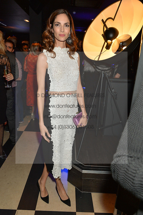 EUGENIA SILVA at a party to celebrate the 1st anniversary of Hello! Fashion Monthly magazine held at Charlie, 15 Berkeley Street, London on 14th October 2015.