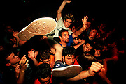 © Naki Kouyioumtzis/ PYMCA<br />crowd surfer @ Mean Fiddler, London