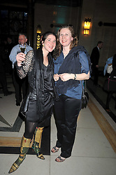Left to right,  Catherine Gazzoli and chef ANGELA HARTNETT at the San Pellegrino World's 50 Best Restaurants Awards 2009 at Freemason's Hall, Great Queen Street, London on 20th April 2009.