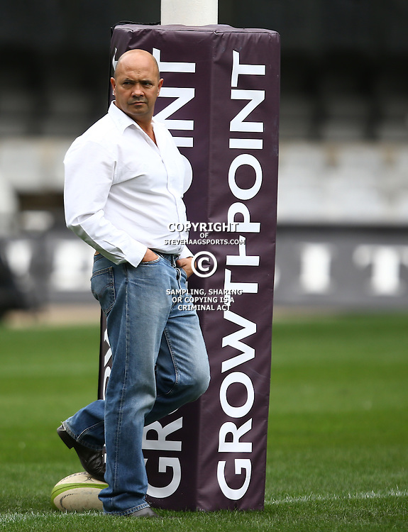 DURBAN, SOUTH AFRICA, 9 September, 2016 - Trevor Barnes (Team Manager) during The Cell C Sharks Captains Run at Growthpoint Kings Park in Durban, South Africa. (Photo by Steve Haag)<br /> <br /> images for social media must have consent from Steve Haag