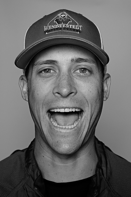 DAYTONA BEACH, FL - FEBRUARY 2, 2016:  Portraits of umpires calling a strike at the Harry Wendelstedt Umpire School in Daytona Beach, Fla.: Andrew Barrett, 25, of San Tan Valley, Ariz. (Photo by Melissa Lyttle)