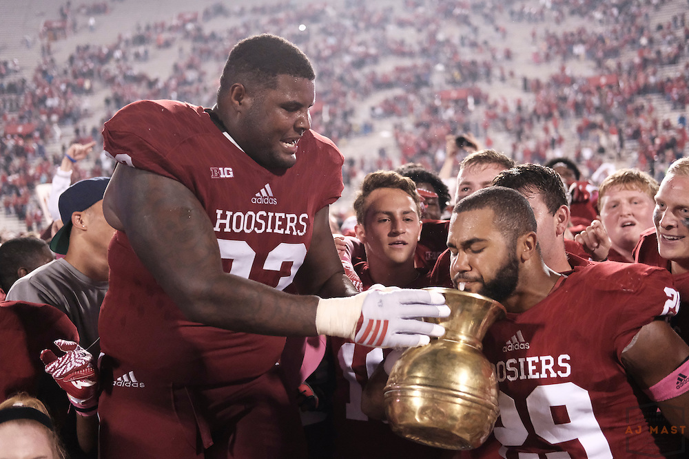 Indiana linebacker Dawson Fletcher (29) as Michigan State played Indiana for the Old Brass Spittoon in an NCCA college football game in Bloomington, Ind., Sunday, Oct. 2, 2016. (AJ Mast)