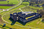 Nederland, Gelderland, Ermelo, 01-05-2013; De Horster Brinken<br /> Kasteel Ermelo 'wonen in stijl', appartementencomplex. Dat staat deels leeg ivm crisis op de huizenmarkt<br /> Castle Ermelo apartment building, partly empty due to the crisis in the property market.<br /> luchtfoto (toeslag op standard tarieven)<br /> aerial photo (additional fee required)<br /> copyright foto/photo Siebe Swart