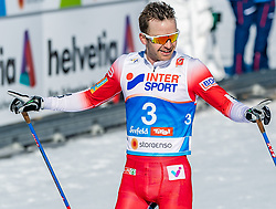 23.02.2019, Langlauf Arena, Seefeld, AUT, FIS Weltmeisterschaften Ski Nordisch, Seefeld 2019, Skiathlon, Herren, 30km, im Bild Sjur Roethe (NOR) // Sjur Roethe of Norway during the men's 30km Skiathlon competition of the FIS Nordic Ski World Championships 2019. Langlauf Arena in Seefeld, Austria on 2019/02/23. EXPA Pictures © 2019, PhotoCredit: EXPA/ Stefan Adelsberger