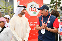 March 1, 2019 - Emirati Arabi Uniti - Foto LaPresse - Massimo Paolone.1 Marzo 2019 Emirati Arabi Uniti.Sport Ciclismo.UAE Tour 2019 - Tappa 6 - da Ajman a Jebel Jais - 180 km.Nella foto: Sheikh Ahmed Bin Humaid Al-Nuaimi, Saeed Hareb..Photo LaPresse - Massimo Paolone.March 1, 2019 United Arab Emirates.Sport Cycling.UAE Tour 2019 - Stage 6 - Ajman to Jebel Jais - 111,8 miles.In the pic: Sheikh Ahmed Bin Humaid Al-Nuaimi, Saeed Hareb (Credit Image: © Massimo Paolone/Lapresse via ZUMA Press)