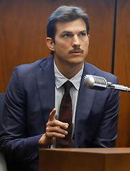 Ashton Kutcher testifies in the murder trial of serial killer Michael Gargiulo at Los Angeles Superior Court in Los Angeles, May 29, 2019. <br /> (POOL PHOTO)