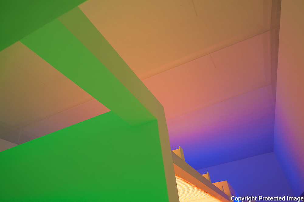 The Hirshhorn Museum in DC reconstructed a 1965 exhibit called Chromosaturation by Carlos Cruz-Diez. The interesting combinations of colored light created beautiful spaces with blurred edges and an other worldly feeling.