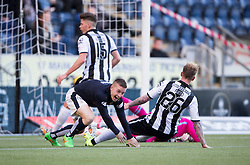 Falkirk's John Baird cele scoring their second goal. <br /> Half time ; Falkirk 2 0 v St Mirren. Scottish Championship game played 21/10/2015 at The Falkirk Stadium.