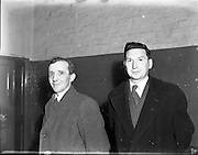 12/11/1952<br /> 11/12/1952<br /> 12 November 1952<br /> F.A.I. personalities (Waterford). (l-r): Paddy O'Connor, Waterford F.A.I. and Ben Wadding Waterford F.A.I.